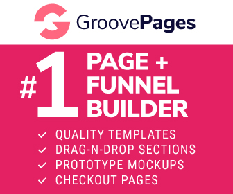 GroovePages page and funnel builder