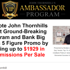 John Thornhill Ambassador Program 2020