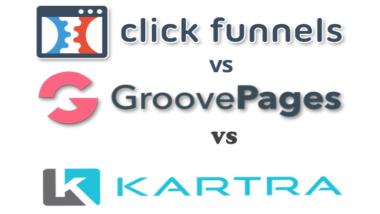 GrooveFunnels vs ClickFunnels vs Kartra