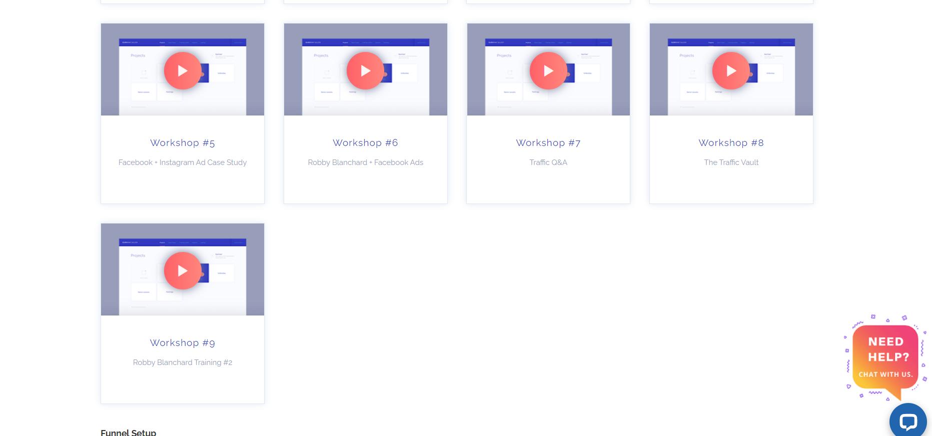 ClickBank Builder workshop modules